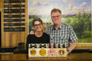 Brad & Kathe Page with new fourpacks
