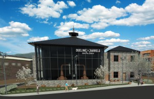 Dueling Barrels Brewing & Distilling Co. rendering in downtown Pikeville, KY.
