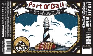 Uinta Brewing Port O Call label
