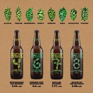Rogue Ales & Spirits Hop Family