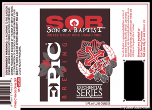 Epic Brewing son of a Baptist Coffee
