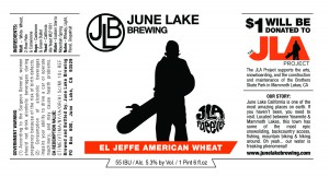 June Lake Brewing El Jeffe American Wheat Beer