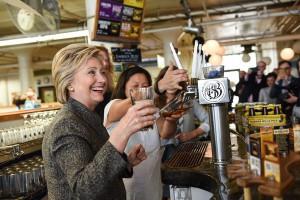 Hillary Clinton Pearl Street Brewery good