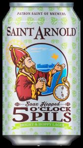 saint arnold 5oclock pils 12oz can