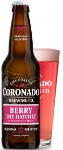 Coronado Brewing Berry the Hatchet bottle andpint
