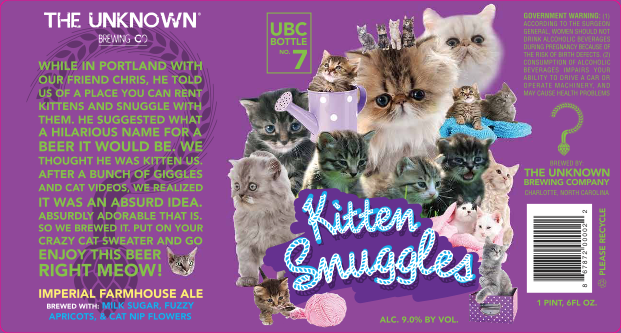 Unknown Brewing Kitten Snuggles Catnip Ale