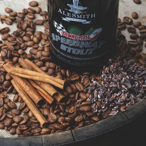 Alesmith Mexican Speedway Stout bottle and Ingredients