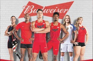 Budweiser Joins Forces with Six Elite Athletes to Support their Journeys to the 2016 Olympic Games in Rio de Janeiro (PRNewsFoto/Anheuser-Busch)