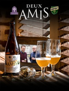 "French for ""Two Friends,"" Deux Amis commemorates the landmark collaboration between Belgium's Brewery Dupont and America's Lost Abbey Brewery. (PRNewsFoto/Brasserie Dupont)"