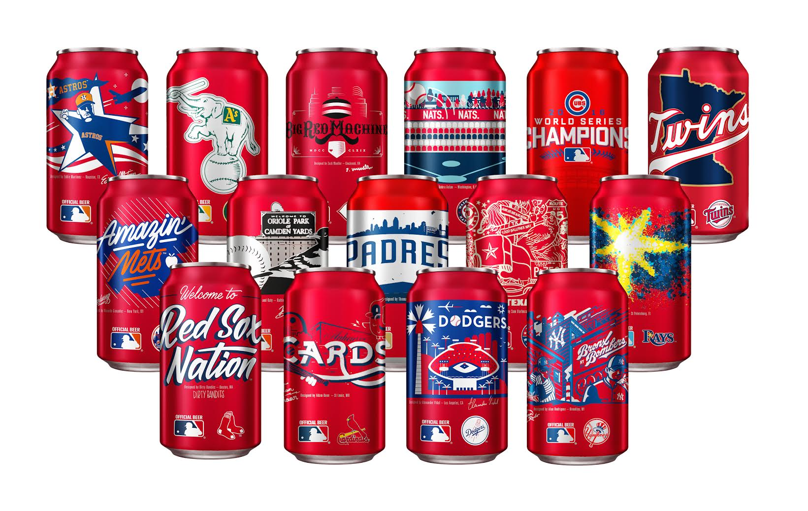 budweiser introduces customized mlb team cans brewbound