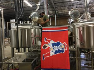 Patriots flag in Scofflaw brewery (800x600)