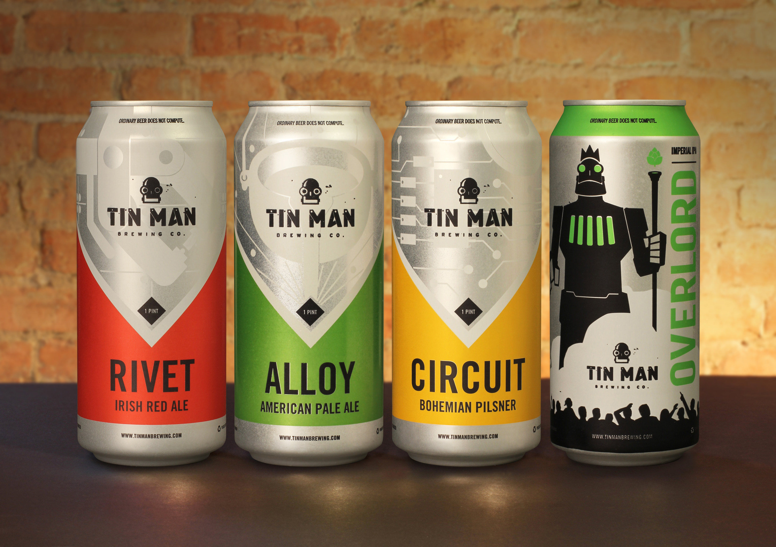 Tin Man Brewing Offers Four Core Beers In Rexam Cans