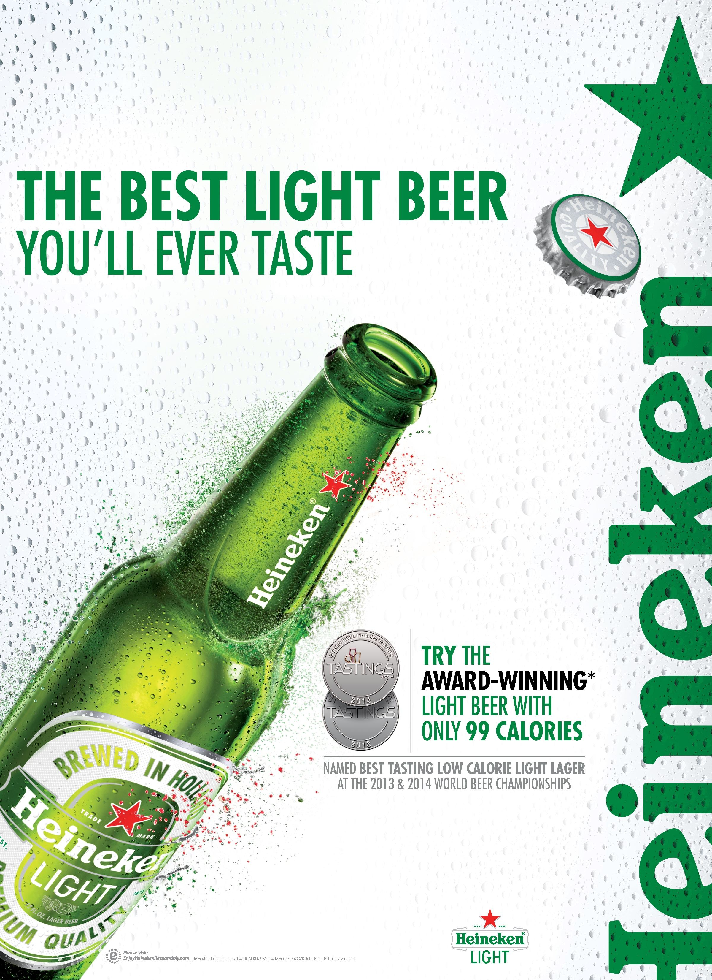 Good New York, NY U2013 Heineken Light, Winner Of The U201cBest Tasting Low Calorie  Lageru201d For The Second Year In A Row At The 2014 And 2013 World Beer  Championships, ... Pictures