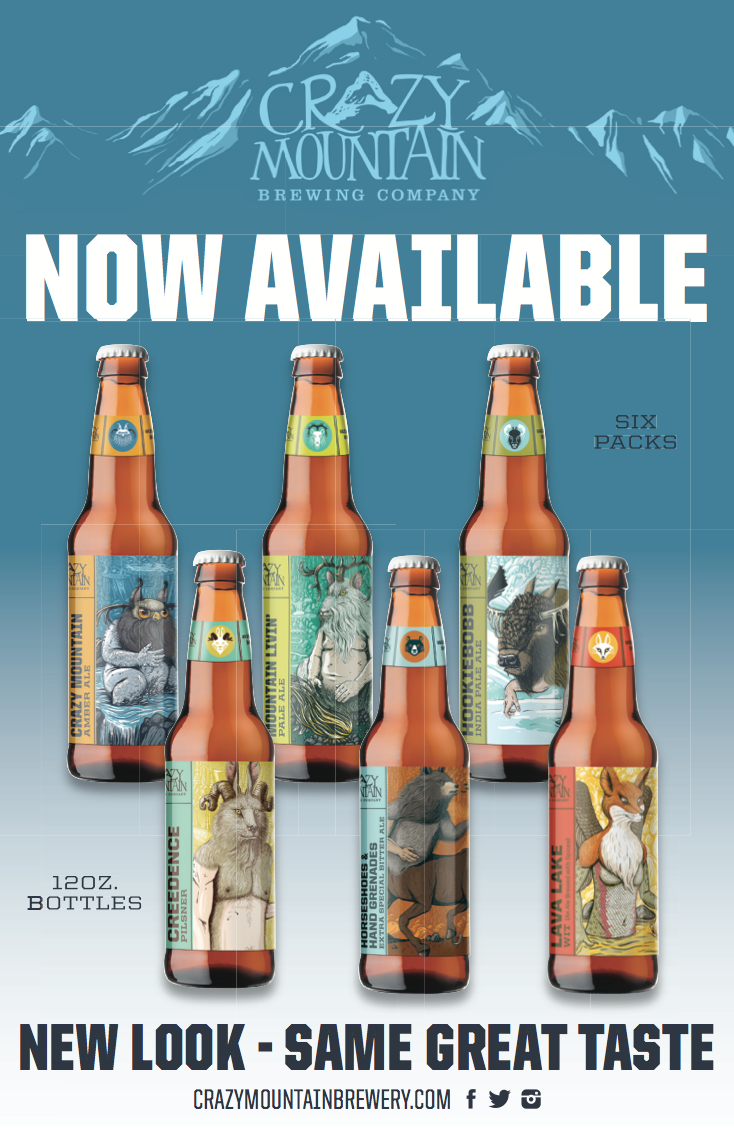 Crazy Mountain Brewing Company Releases Select Craft Beers in 12-Ounce Bottles with New Look