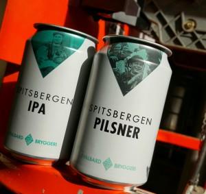 Svalbard's Spitsbergen Pilsner cans