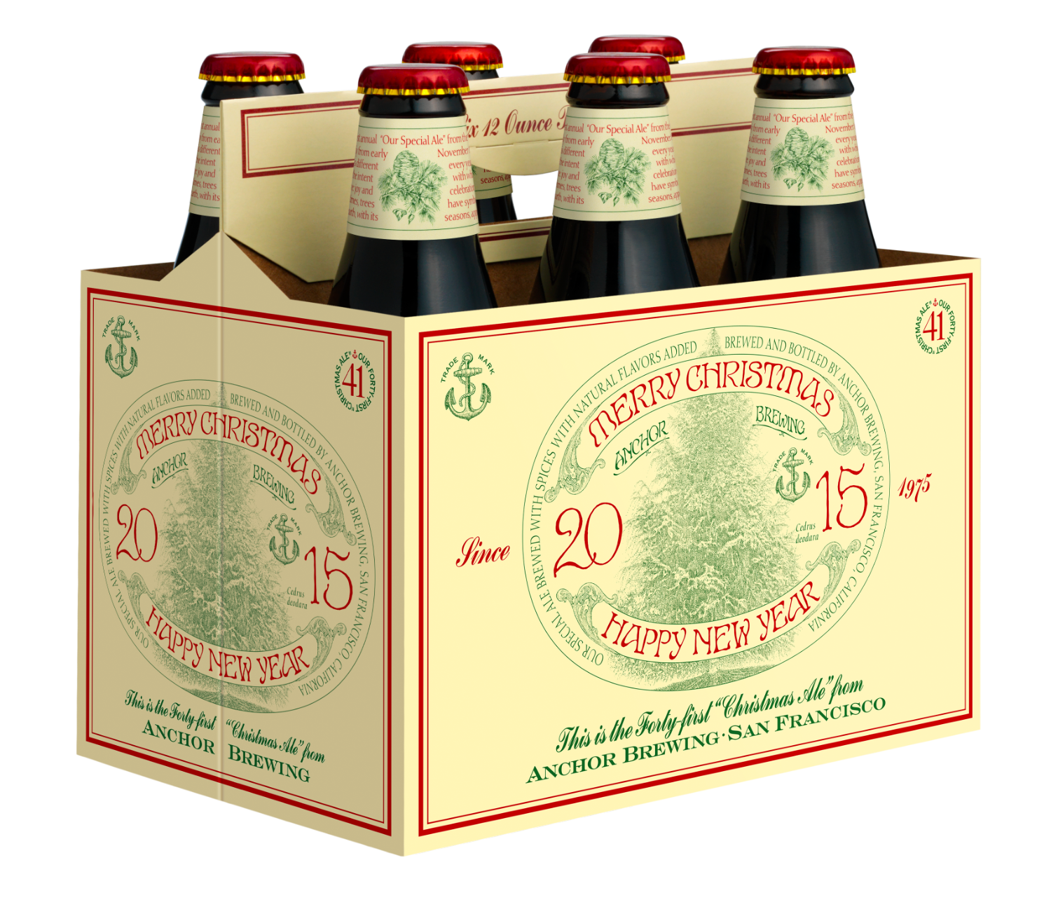 san francisco ca anchor brewing company announces the release of the 2015 anchor christmas ale a rich complex and dark spiced seasonal ale that marks - Anchor Brewing Christmas Ale