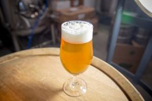 Spangalang Orange Crushsicle glass of beer