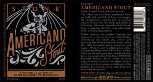Stone Americano Stout Label
