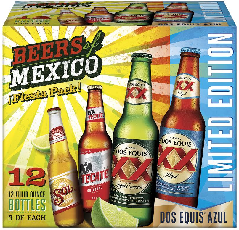 Heineken Usa Beers Of Mexico Variety Pack Returns With Limited Edition Dos Equis Azul Brewbound