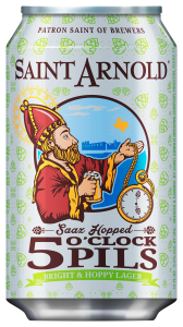 saint arnold 5oclock pils 12oz can