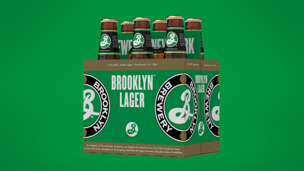 Brooklyn Brewery new packaging Lager 6 pack