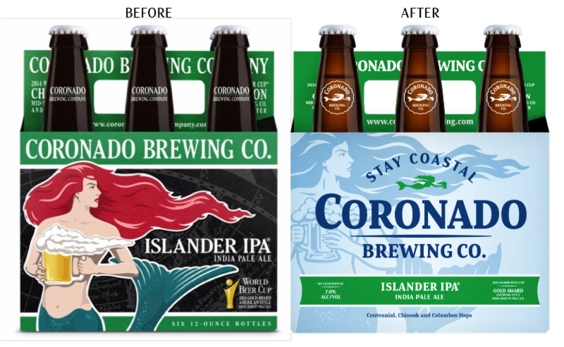 coronado brewing islander ipa 6 pack before after