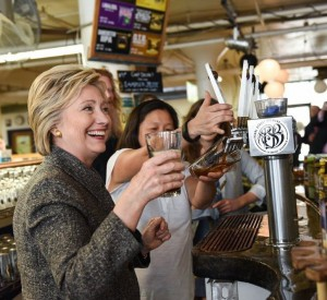 hillary clinton pearl street brewery square image