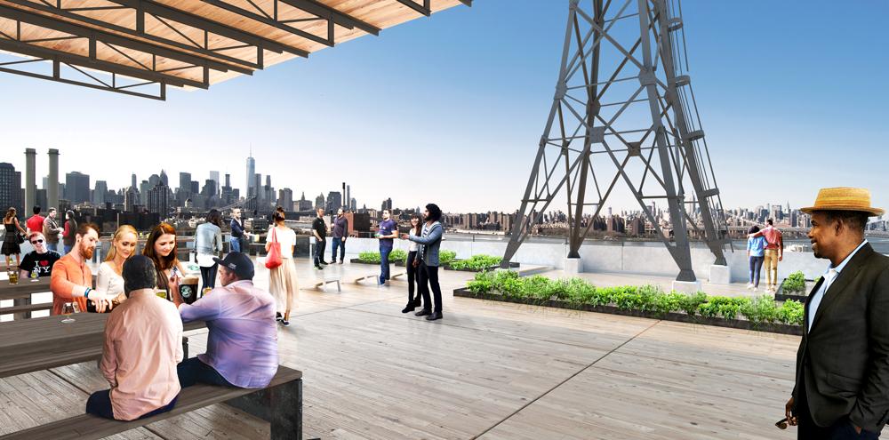 Brooklyn Brewery @ Brooklyn Navy Yard beer garden moc up