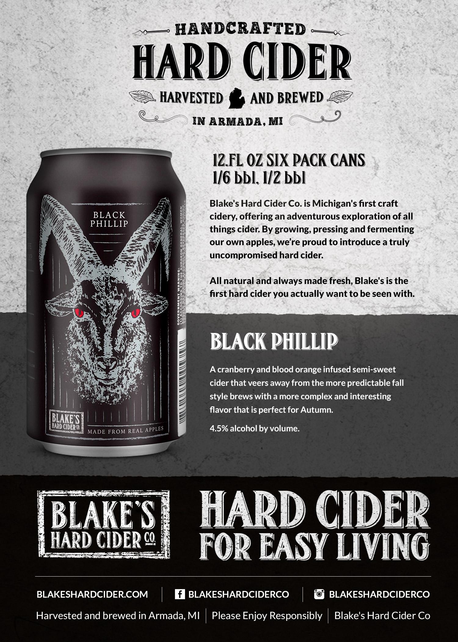 Blake S Hard Cider To Release Black Phillip On August 1