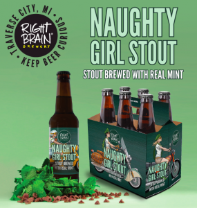 Right Brain Brewery Launches Naughty Girl Mint Stout in Six-Packs