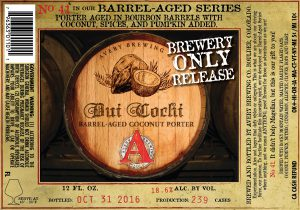 Avery Brewing Releases Dui Cochi - No. 41 of its Barrel-Aged Series