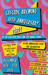Cascade Brewing 18th Anniversary Party