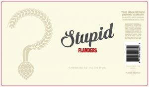unknown brewing stupid flanders red ale