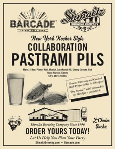"""(MEDIA ALERT) Shmaltz Brewing and Barcade Collaborate on """"Pastrami Pils"""" (5.5% ABV Pilsner, Available at Barcade Locations)"""