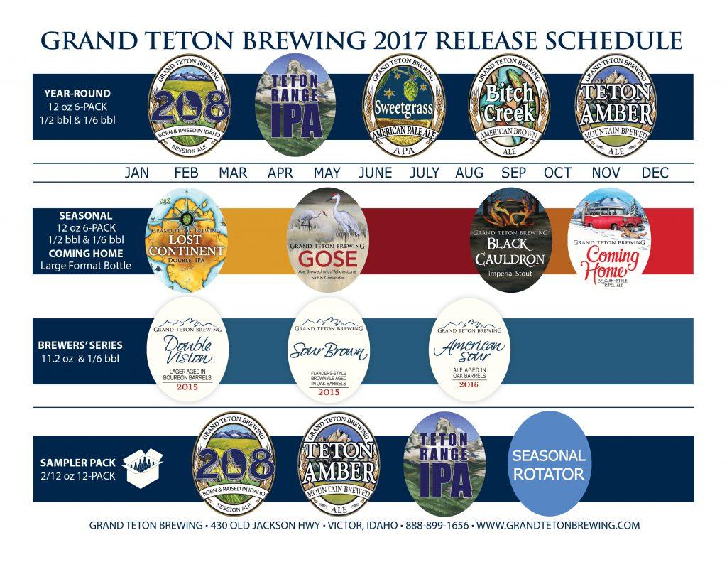 Grand Teton Brewing Announces 2017 Release Schedule