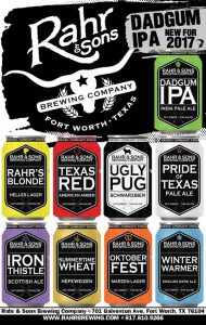 Rahr & Sons Brewing Co. cans beers with a fresh new look, debuts new Dadgum IPA in April