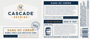 Cascade Brewing debuts new branding with release of Sang Du Chêne