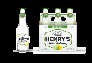 Lemon Lime henrys hard sparkling water