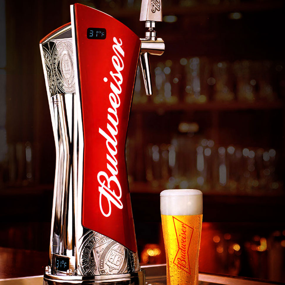 beer tap handle old western six shooter rolling rock