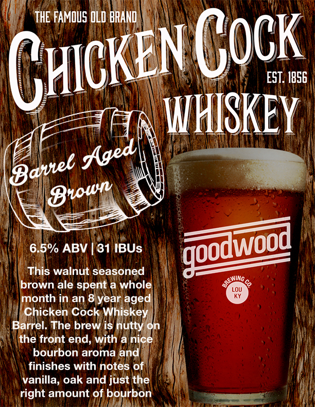 Goodwood Brewing Company Collaborates with Chicken Cock Whiskey | Brewbound.com