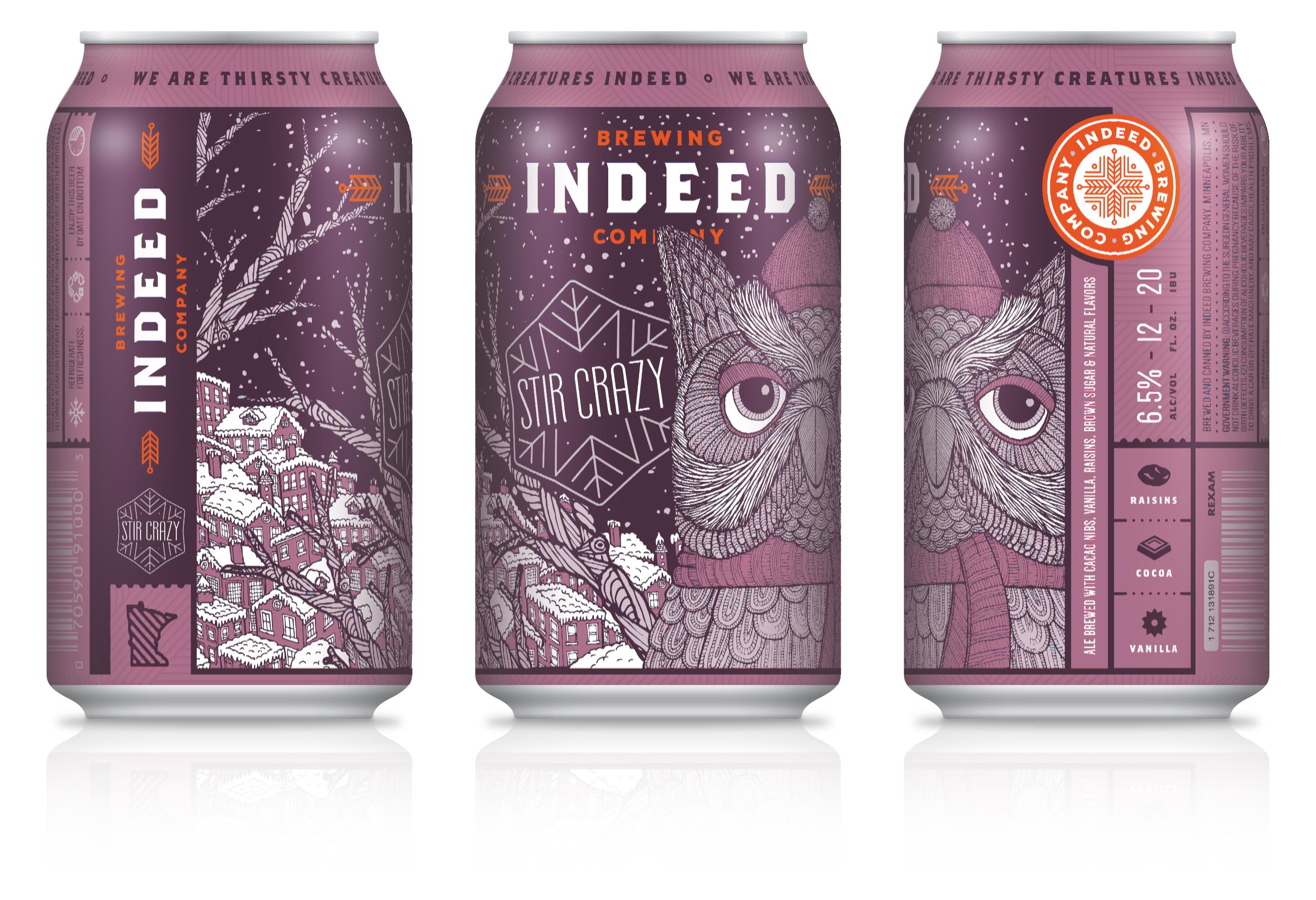 Indeed Brewing Releases Reformulated Stir Crazy Porter | Brewbound com
