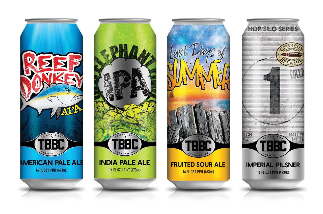 Tampa Bay Brewing Announces Refreshed Branding New Can Designs And