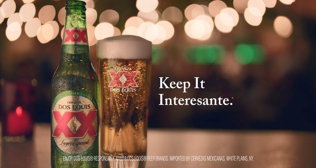 Heineken debuts dos equis keep it interesante campaign brewbound white plains ny in an exciting evolution of its most interesting man campaign dos equis is out to prove that interesting is not limited to just mozeypictures Choice Image