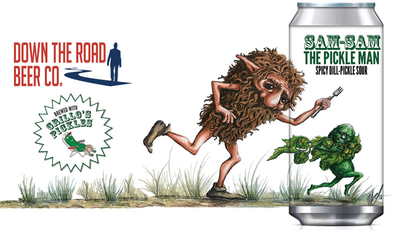 Down The Road Collaborates with Grillo's Pickles on Spicy Dill-Pickle Sour | Brewbound.com