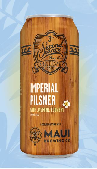Second Chance Beer Collaborates with Maui Brewing Company on Imperial Pilsner   Brewbound.com