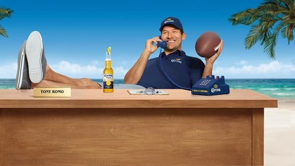 Tony Romo Replaces Jon Gruden as Constellation's Corona Hotline Operator   Brewbound.com