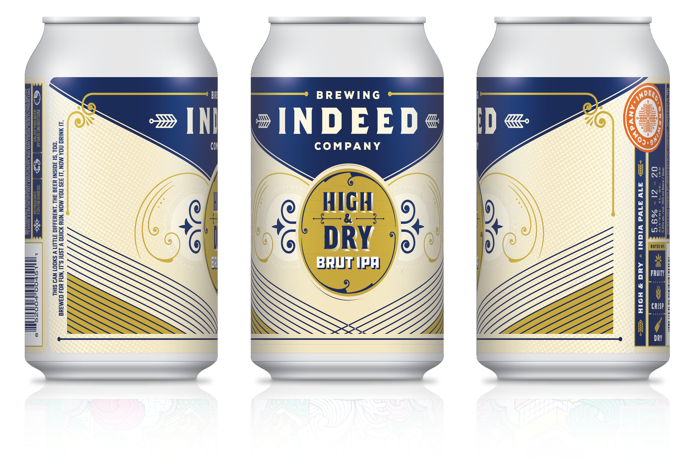 Indeed Brewing Company Announces Release of High & Dry Brut IPA
