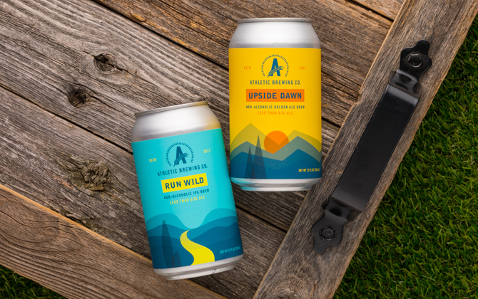 Athletic Brewing Run Wild and Upside Dawn