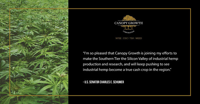 Canopy Growth Corporation to Invest Up to $150 Million in