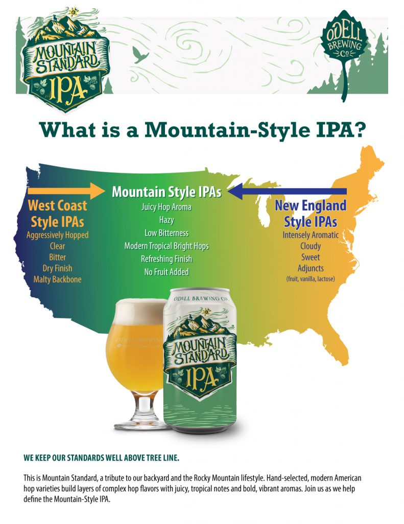 Odell Brewing Releases Mountain Standard IPA | Brewbound com